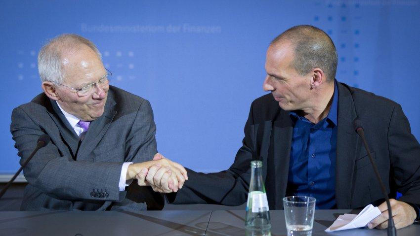 Griechenlands Finanzminister Yanis Varoufakis trifft Schäuble